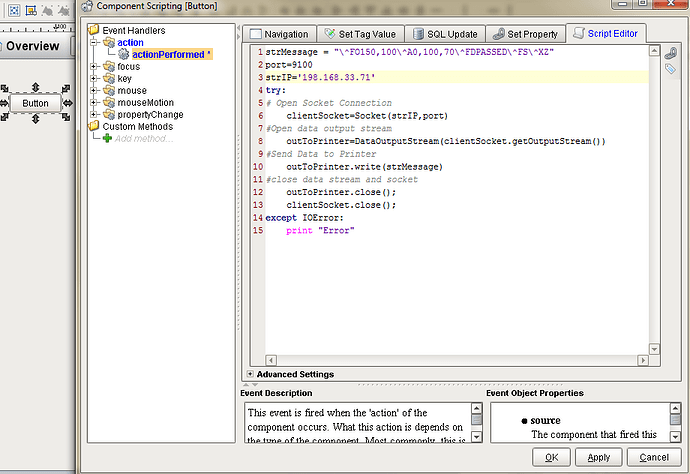 Send ZPL command to Zebra 170PAX4 via TCP/IP Socket - Ignition