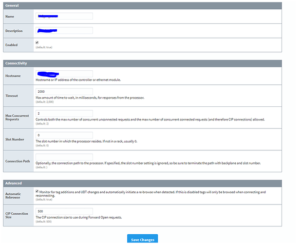 OPC Device Driver Won't Connect, Works With Alternate Gateway