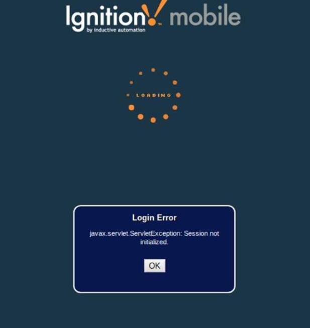 Mobile Client Login Error - Ignition - Inductive Automation