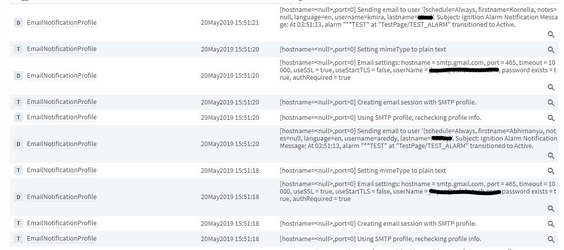 Alarm Notification Setup - Testing Email not Sending